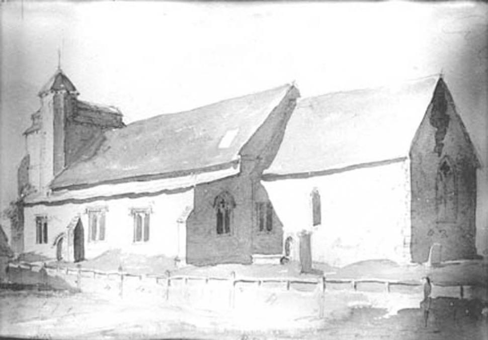 1809 watercolour of the church image