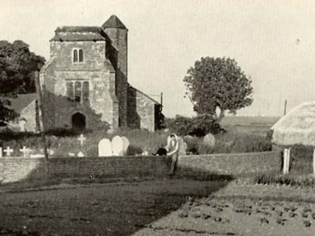 Stoke Church in the 1940s image
