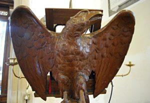 Carved wooden Eagle Lectern image